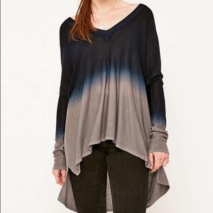 UO • Pins And Needles Dip-Dye Tunic Top